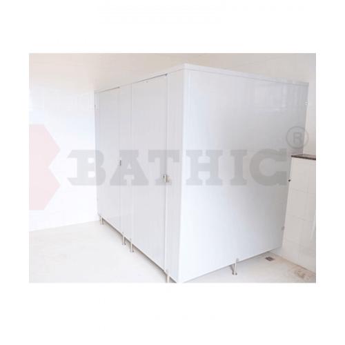 BATHIC ผนังห้องน้ำพีวีซี แผงพาร์ทิชั่น 100x190 cm. สีเทา BATHIC PT สีเทา
