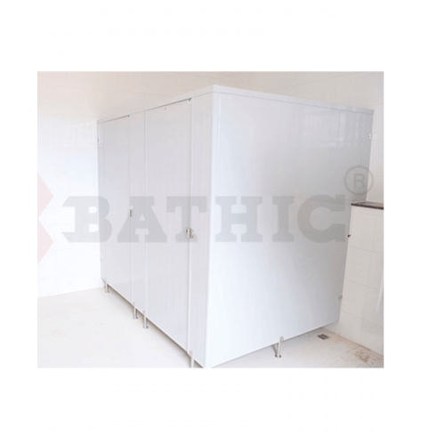BATHIC ผนังห้องน้ำพีวีซี แผงพาร์ทิชั่น 200x190 cm. สีเทา BATHIC PT สีเทา
