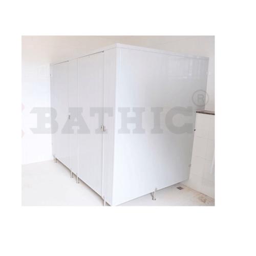 BATHIC ผนังห้องน้ำพีวีซี แผงพาร์ทิชั่น 10x190 cm. PT สีครีม