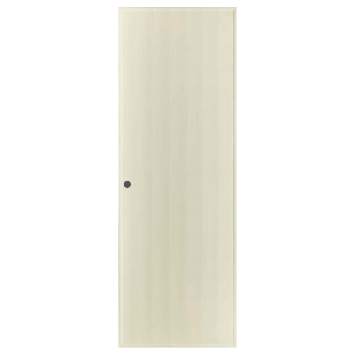 BATHIC ประตูพีวีซี ขนาด 61x185 ซม. เจาะ BS1 สีครีม
