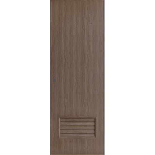 BATHIC ประตูพีวีซี ขนาด 70x180 ซม. สีโอ๊ค (เจาะ) BL2