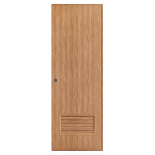 BATHIC ประตูพีวีซี เกล็ดล่าง ขนาด  70x200cm. สีบีช (เจาะ)  BL2