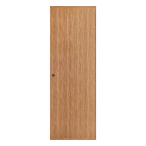 BATHIC ประตูพีวีซี บานทึบ ขนาด70x180ซม. สีบีช (เจาะ) BL1