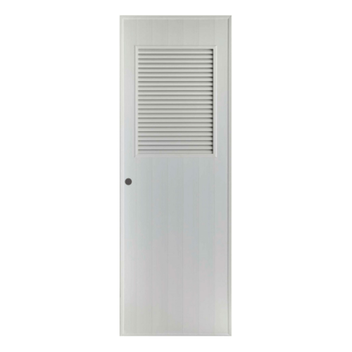 BATHIC ประตูพีวีซี  ขนาด 70x170 ซม. (เจาะ) BS3 สีเทา