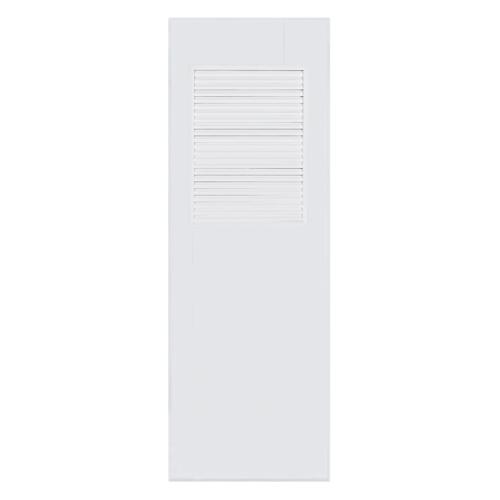 BATHIC ประตูพีวีซี  ขนาด 90x200 ซม.  (ไม่เจาะ)  BC3 สีขาว