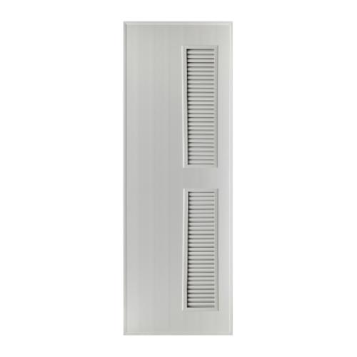 BATHIC ประตูพีวีซี เกล็ดข้าง บน-ล่าง 70x200ซม. (เจาะ) BS6 สีเทา