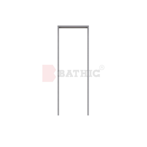 BATHIC วงกบ PVC 100x200 cm.  F สีเทา