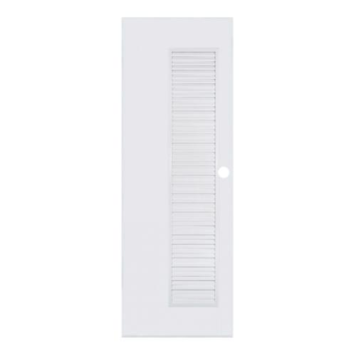 BATHIC ประตูพีวีซี  ขนาด 80x200 ซม.  (เจาะ)  BC5  สีขาว