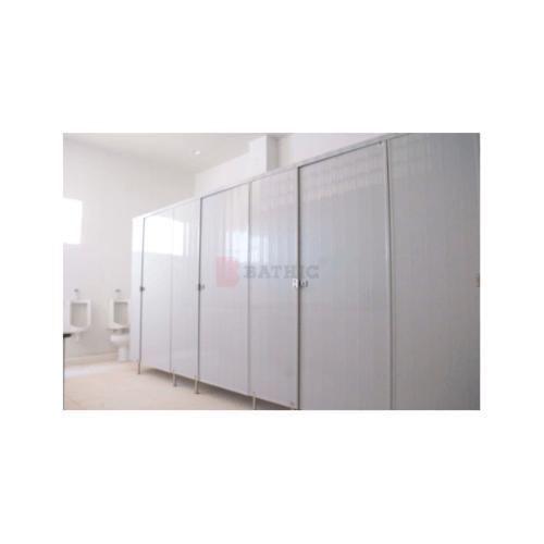 BATHIC ผนังห้องน้ำพีวีซี แผงพาร์ทิชั่น 180x115 cm. สีเทา  BATHIC PT สีเทา