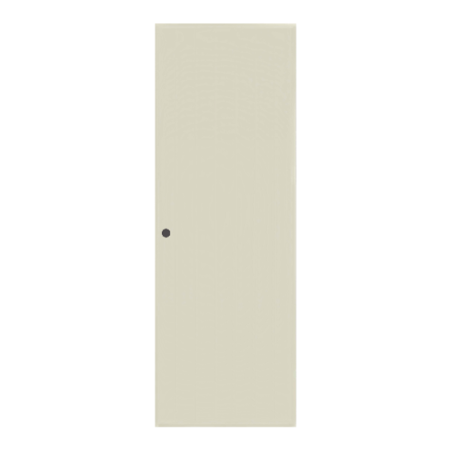 BATHIC ประตูพีวีซี บานทึบ ขนาด 60x200ซม.  (เจาะ) BC1 สีครีม