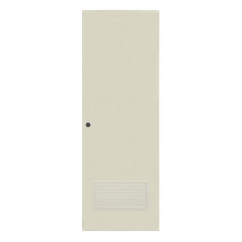 BATHIC  ประตูพีวีซี เกล็ดล่าง ขนาด 70.5x177.5ซม. (เจาะ) BC2 สีครีม
