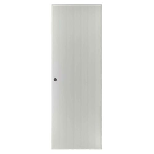 BATHIC  ประตูพีวีซี บานทึบเรียบ ขนาด  100x200ซม.(เจาะ) BS1 สีเทา