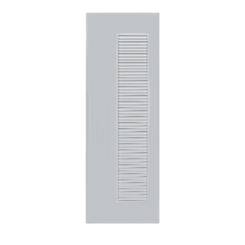 BATHIC ประตูพีวีซี เกล็ดข้างตลอด 90x200ซม. (ไม่เจาะ) BC5  สีเทา