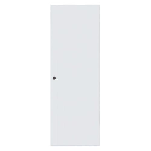 BATHIC ประตูพีวีซี บานทึบเรียบขนาด 70x200ซม.  (เจาะ) BC1 สีขาว