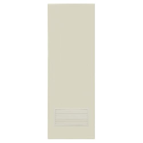 BATHIC  ประตูพีวีซี เกล็ดล่าง ขนาด  69x169ซม.  (ไม่เจาะ) BC2 สีครีม
