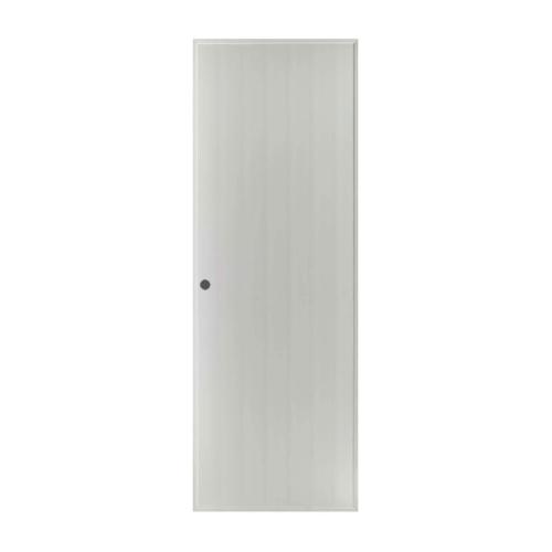 BATHIC ประตูพีวีซี บานทึบ ขนาด 68.5x200ซม.  (เจาะ) BS1 สีเทา
