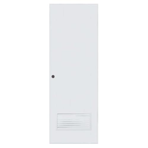 BATHIC  ประตูพีวีซี เกล็ดล่าง ขนาด  100x200ซม.  (เจาะ) ฺBC2 สีขาว