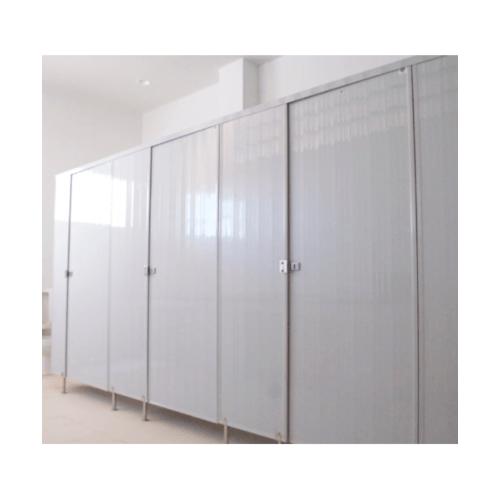 BATHIC  ผนังห้องน้ำพีวีซี แผงพาร์ทิชั่น ขนาด 120x200ซม.  PT สีขาว