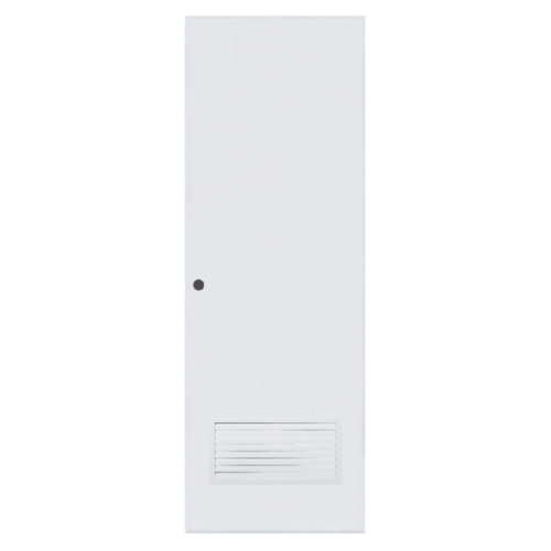BATHIC ประตูพีวีซี  ขนาด 80x193 ซม. เจาะรูลูกบิด BC2 สีขาว