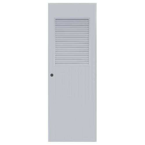 BATHIC  ประตูพีวีซี เกล็ดครึ่งบางบนขนาด  81x200ซม.  (เจาะ) ฺBC3 สีเทา