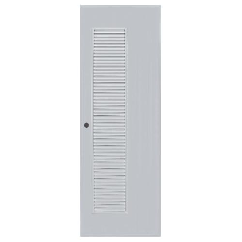 BATHIC  ประตูพีวีซี เกล็ดข้างตลอดบาน ขนาด 80x100ซม. (เจาะ)  BC5 สีเทา