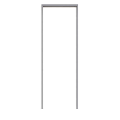 BATHIC  วงกบประตูพีวีซี  ขนาด  80x100ซม. สีเทา