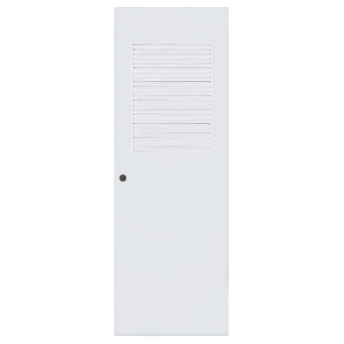 BATHIC  ประตูพีวีซี เกล็ดครึ่งบานบน  ขนาด 70x150ซม.  (เจาะ) ฺBC3 สีขาว