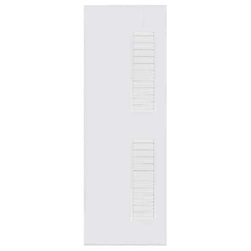 BATHIC ประตูพีวีซี เกล็ดข้าง บน-ล่าง ขนาด 70x195ซม. (ไม่เจาะ) BC6 สีขาว