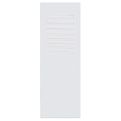 BATHIC  ประตูพีวีซี เกล็ดบน ขนาด 80x200ซม.  (ไม่เจาะ) BC3 สีขาว