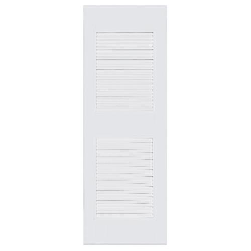 BATHIC ประตูพีวีซี เกล็ดกลาง บน-ล่าง ขนาด 70x180ซม.  (ไม่เจาะ) BC4 สีขาว