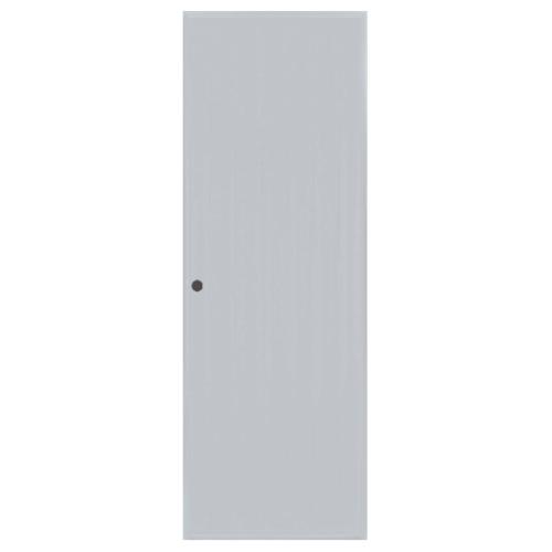 BATHIC ประตูพีวีซี บานทึบเรียบ ขนาด 80x67ซม. (เจาะรู) BC1 สีเทา