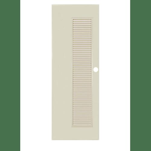 BATHIC ประตูพีวีซี ขนาด 80x204 ซม. BC5 (เจาะรูลูกบิด) ครีม