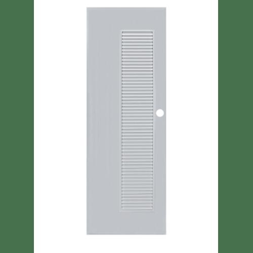 BATHIC ประตูพีวีซี  ขนาด 85.5x136.5ซม. (เจาะรูลูกบิด) BS5 สีเทา