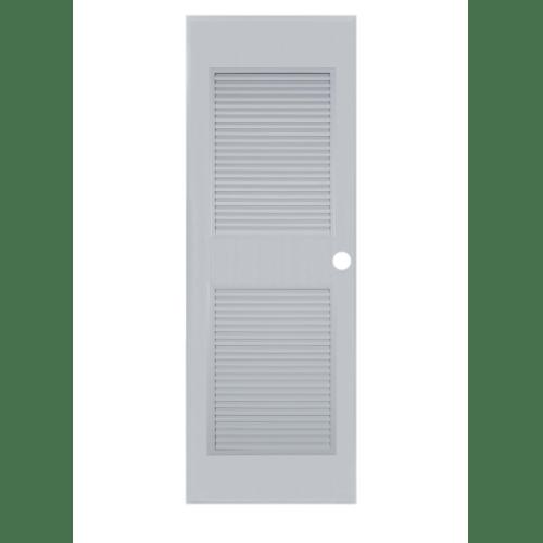 BATHIC ประตูพีวีซี ขนาด 80x200ซม. (เจาะรูลูกบิด) BC4  สีเทา