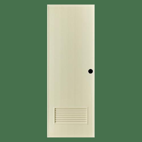 BATHIC ประตูพีวีซี ขนาด 69x200ซม. (เจาะรูลูกบิด) BS2 สีครีม