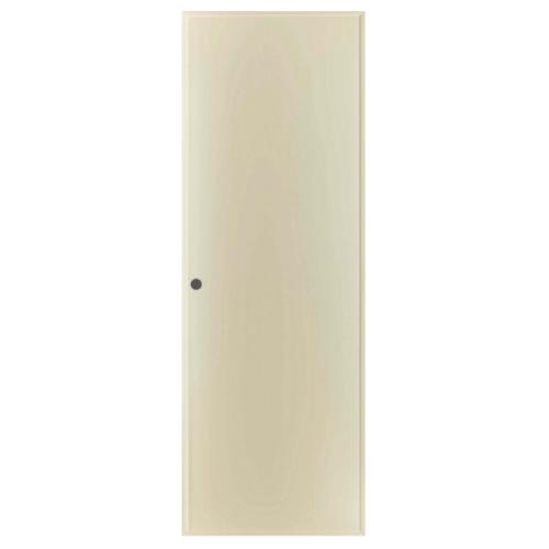 BATHIC ประตู PVC ขนาด 70x180 ซม. เจาะ BP1 สีครีม