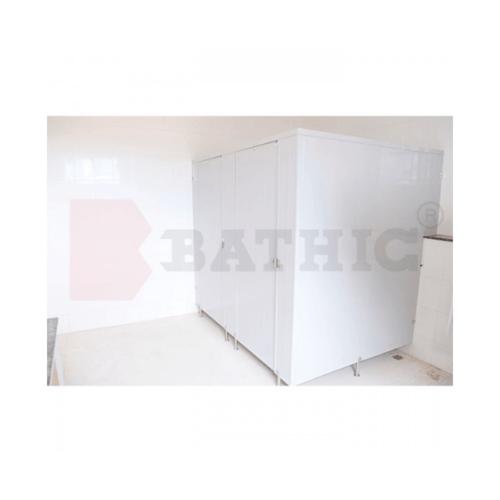 BATHIC บานพาร์ติชั่น 120x185 สีครีม PT