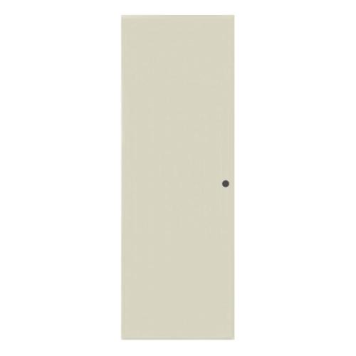 BATHIC ประตูพีวีซี ขนาด 70x180 ซม.  เจาะรูลูกบิด  BC1 สีครีม