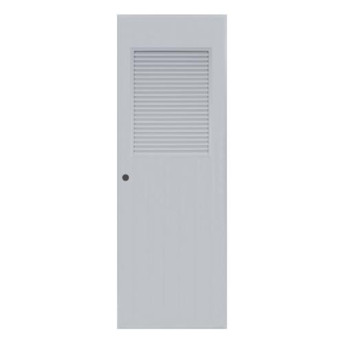 BATHIC ประตูพีวีซี  ขนาด 80x180 ซม. เจาะรูลูกบิด BC3 สีเทา