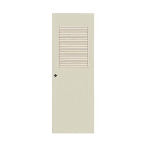 BATHIC ประตูพีวีซี ขนาด 80x180 ซม.  เจาะรูลูกบิด BC3 สีครีม