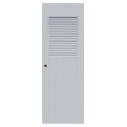 BATHIC ประตู PVC ขนาด 80x200 ซม. เจาะ BC3 สีเทา