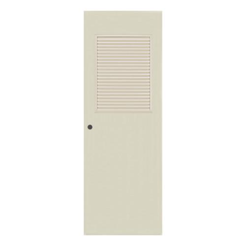 BATHIC ประตูพีวีซี ขนาด 90x197 ซม.  เจาะรูลูกบิด BC3 สีครีม
