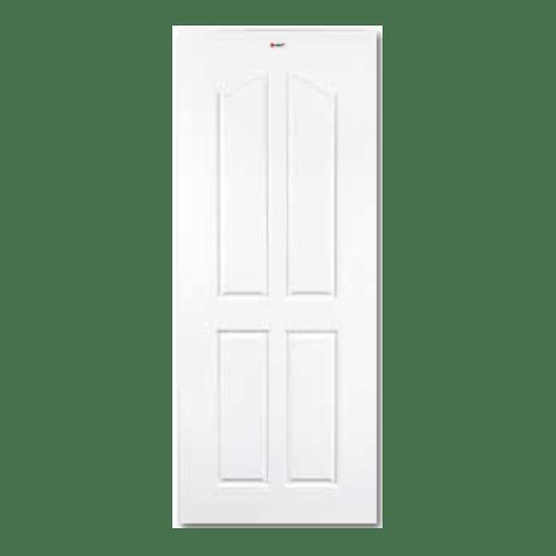 BATHIC ประตูยูพีวีซี ขนาด 90x200 ซม. (เจาะรูลูกบิด) BTU206 ขาว