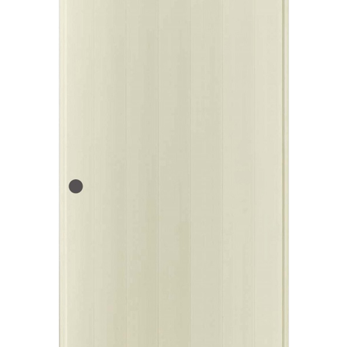 BATHIC ประตูพีวีซี ขนาด 80x180 ซม. เจาะรูลูกบิด  BS1 สีครีม