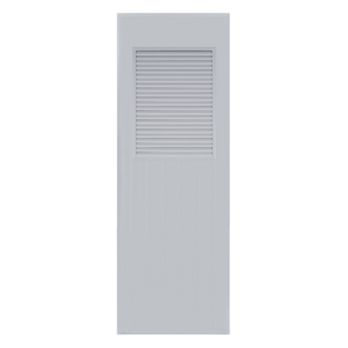 BATHIC ประตูพีวีซี  ขนาด 80x180 ซม.  BC3 สีเทา