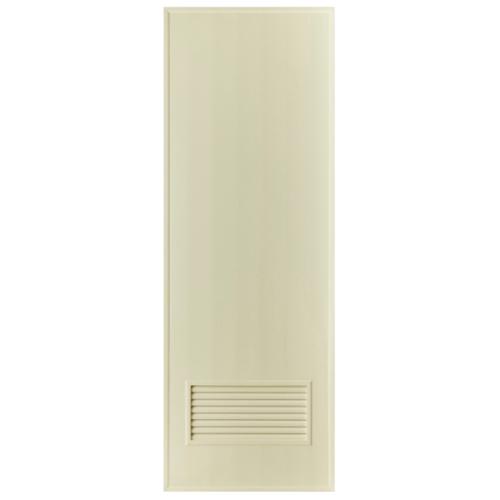 BATHIC ประตูพีวีซี ขนาด 80x200 ซม.  ไม่เจาะ  BS2  สีครีม