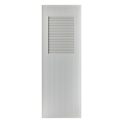 BATHIC ประตูพีวีซี ขนาด 70x200 ซม.ไม่เจาะ BS3 สีเทา