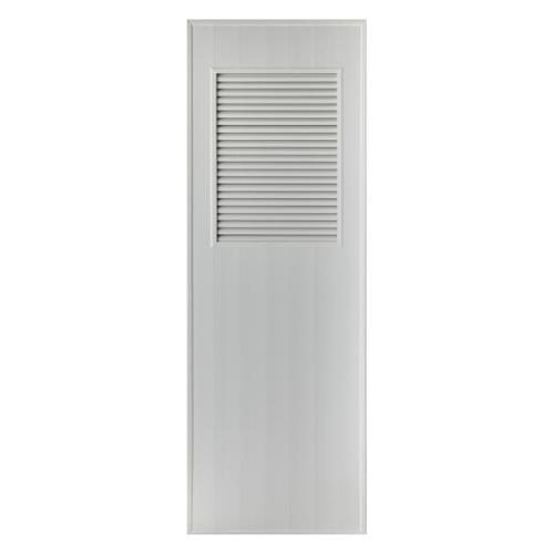 BATHTIC ประตู PVC ขนาด 80x200 ซม. ไม่เจาะ BS3 สีเทา