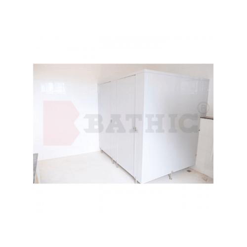 BATHIC ผนังห้องน้ำ PVC แผงพาร์ทิชั่น 10cm.x162cm. สีครีม BATHIC PT สีครีม