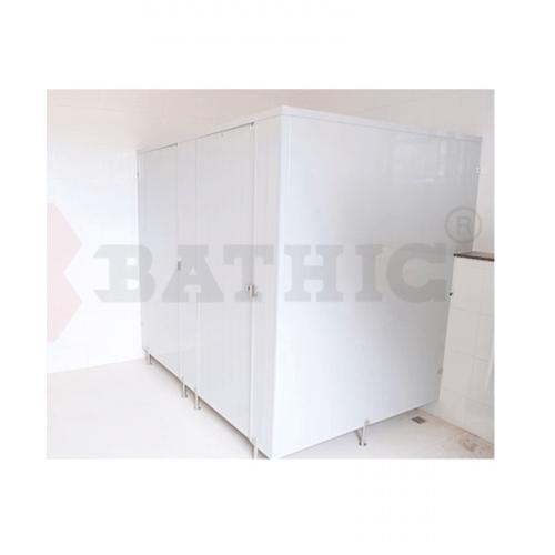 BATHIC ผนังห้องน้ำพีวีซี แผงพาร์ทิชั่น 40x180cm. สีครีม BATHIC PT สีครีม